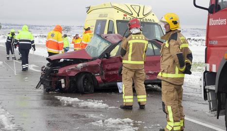 Una dona mor en un accident en la C-14 a Claravalls