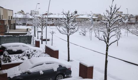 Més de 9.000 abonats sense llum pel temporal de neu en 22 municipis