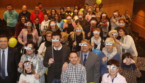 Participants ahir en la jornada festiva celebrada a CaixaForum Lleida a causa del mal temps.