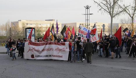 La manifestació en contra de la plaques franquistes del dia 18.