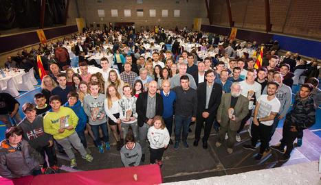 La XX Nit de l'Esport Cerverí supera el seu rècord al reunir més de 400 persones