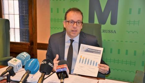 L'alcalde de Mollerussa, Marc Solsona,