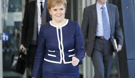 La líder del Partit Nacional Escocès (SNP) i primera ministra d'Escòcia, Nicola Sturgeon.