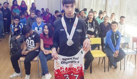 L'Escola Alba rep Puiggener, plata en els Jocs Special Olympics
