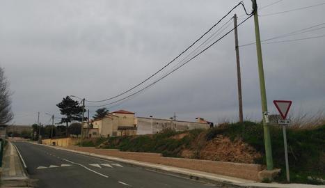 Imatge del nou enllumenat públic del municipi de Preixens.