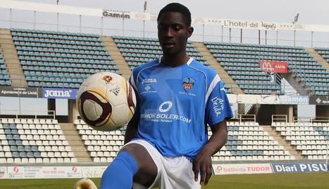 El leridano Cheikh Saad, en 2010 en el Campd 'Esports s con la camiseta de la UE Lleida.