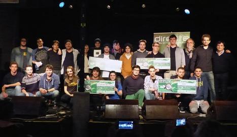 Grups guanyadors del Directe, l'any passat al Cafè del Teatre.