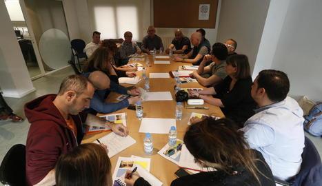Visita d'una delegació francesa en un Erasmus amb la FAV