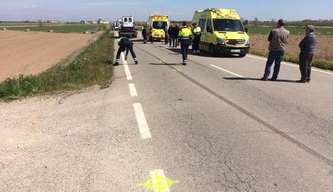 Mor un ciclista atropellat a Vilanova de Bellpuig