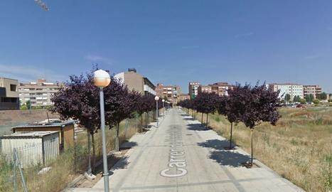 El carrer Yehudi Menuhin de Pardinyes