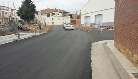 Les obres de millora de la cèntrica plaça i carrers adjacents.