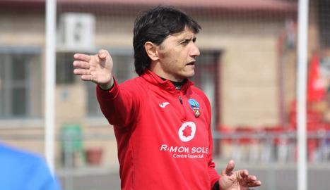 Gustavo Siviero, aquesta setmana durant un entrenament.