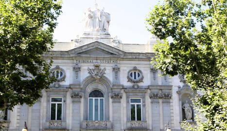 Façana principal del Tribunal Suprem a Madrid.