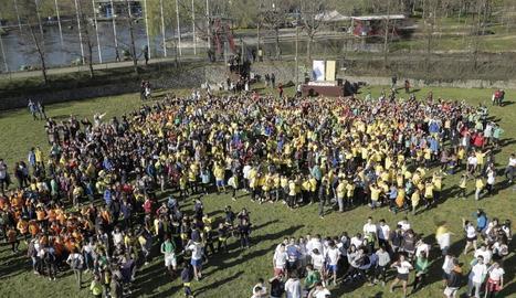 Participants en la jornada de l'activitat física a la Seu d'Urgell.