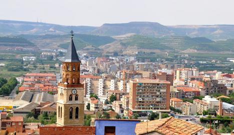 Imatge d'arxiu d'una vista general de Fraga.
