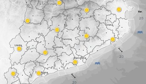 Mapa de previsió meteorològica.