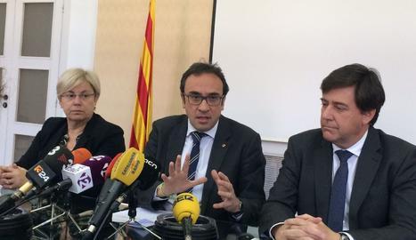 Rull ha explicat aquest divendres a Tarragona el proyecte de portada d'aigua de Rialb.