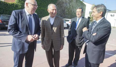 El conseller Baiget, amb el president de bonÀrea Corporació, Jaume Alsina.