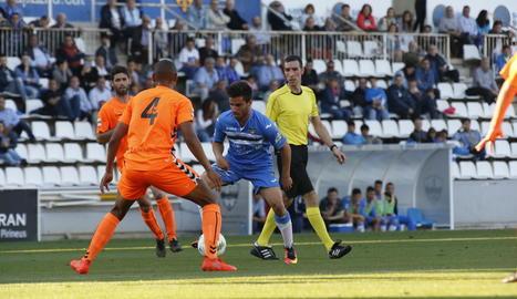 El Lleida va tenir moltes dificultats per superar els jugadors del Gavà.