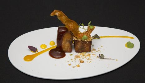Els responsables del restaurant El Tastet del Reng, que ahir van guanyar el concurs.