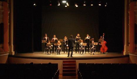 Imatge del concert ofert ahir per la Cobla Lo Castell de Bellpuig.