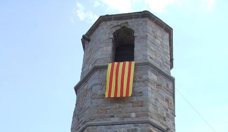 Campanar de l'església parroquial de Sant Andreu d'Oliana.