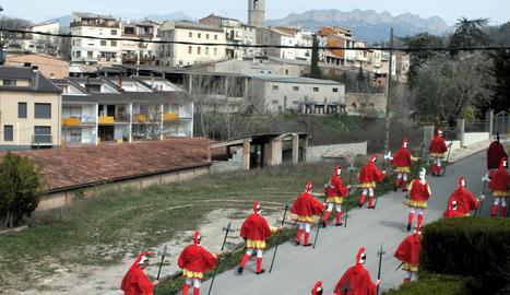 Desfilada dels Armats d'Oliana.