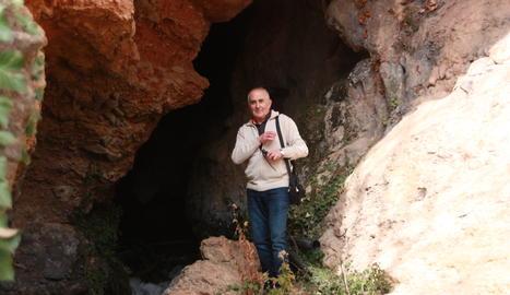 Marcel Ribera durant una recent excursió a Rivert.