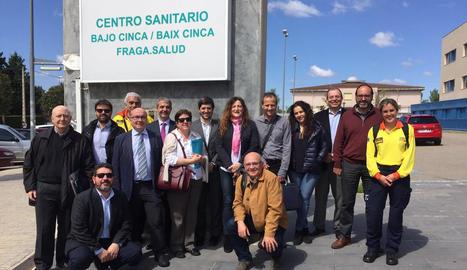 Els representants aragonesos i catalans en l'última reunió.
