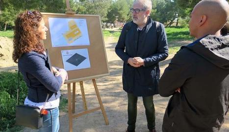 La visita d'aquest dimecres al parc de Santa Cecília de Lleida.