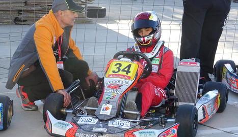 Samuel Bean, poc abans de la cursa.