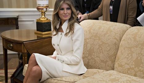 La primera dama, Melania Trump, a la Casa Blanca en una imatge d'arxiu.