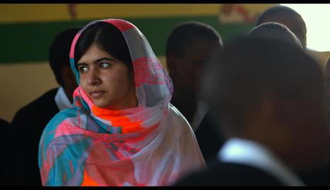 Malala Yousafzai, defensora de l'escolarització de la dona.