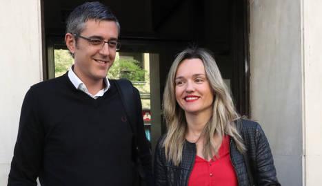 Eduardo Madina i Pilar Alegría presentant la precandidatura de Susana Díaz.