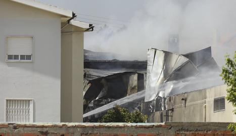 Imatge del lloc on es va estavellar l'avioneta.