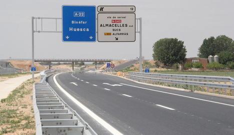 Imatge d'arxiu de l'autovia Lleida-Osca.