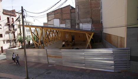 Les obres de la Casa de Fusta estaran acabades al juny.