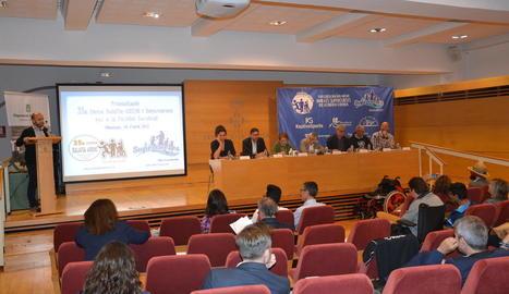 La Cursa Balàfia-Aremi es va presentar ahir a la sala d'actes de la Diputació.