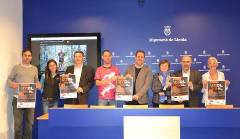 L'organització va presentar ahir la primera edició de l'UItra Trail Terres de Lleida a la Diputació.