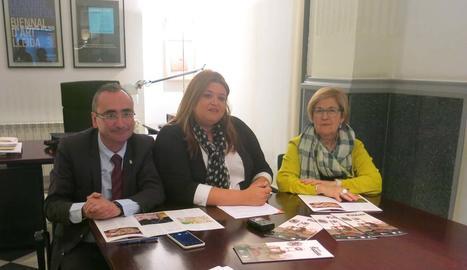Un moment ahir de la presentació del programa a Lleida.