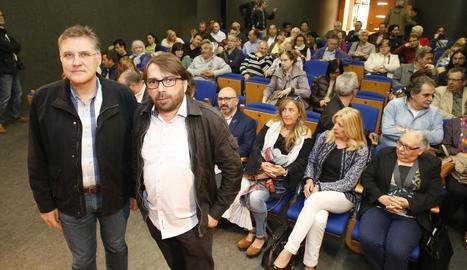 José Luis Aguilà i Camil Ros, moments abans de l'inici de l'assemblea de delegats d'UGT.