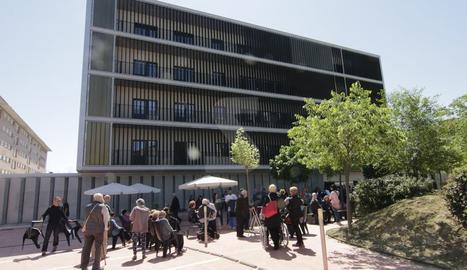 L'acte d'inauguració de la nova residència Bassa II.