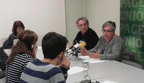 La roda de premsa d'Unió de Pagesos