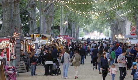 'Food trucks' al festival gastronòmic Rumm als Camps Elisis.