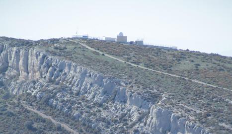 Vista del lloc de l'accident, poc després de la caiguda mortal.