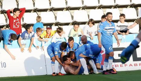 El Lleida torna a guanyar tres punts d'or en el temps afegit