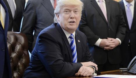 Imatge d'arxiu del president dels Estats Units, Donald Trump.