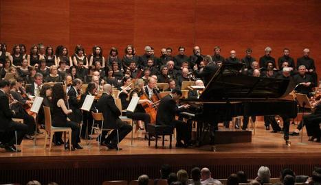 El públic va omplir l'Auditori per escoltar la 'Novena' de Beethoven.