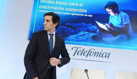El president de Telefónica,