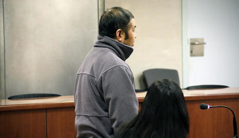 El condemnat, durant el judici celebrat el passat 22 de març a l'Audiència Provincial de Lleida.